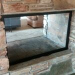 Custom fireplace glass Boise